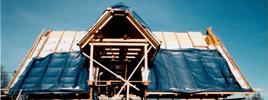 Izolace nadkrovové části střechy - 30 cm minerální vaty