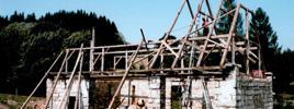 Bourání starých krovů - Obec Adršpach
