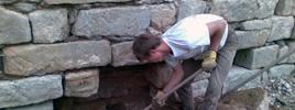 Stavba kamených zdí - spárování zdiva