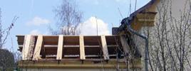 Restaurace krovu - Na památkově chráněném mlýnu